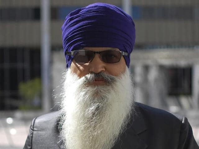 Photo provided by the Sikh Coalition shows Lakhbir Singh, one of the four truckers.