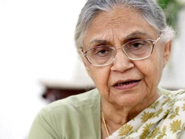File photo of former Delhi chief minister Sheila Dikshit. Dikshit's son-in-law was sent to one-day judicial custody in connection with a domestic violence case.