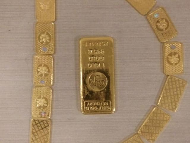 The officials said that the accused had purchased gold with black money.(HT Photo)
