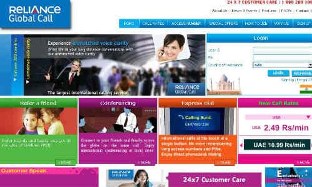 Reliance Global Call,launches new app,for international calling