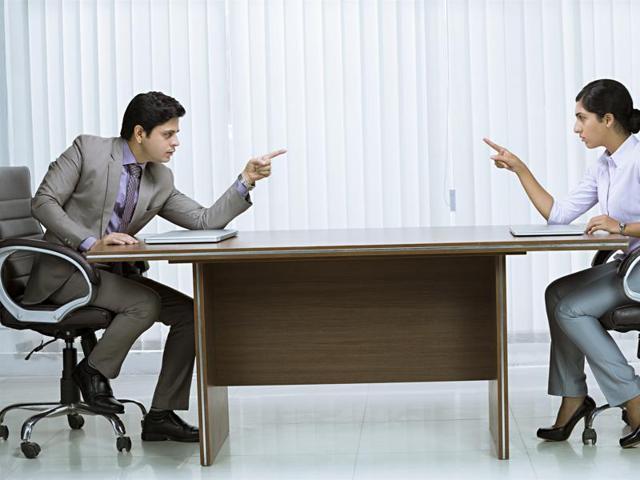 Office fights,Cowokers,Eye to eye