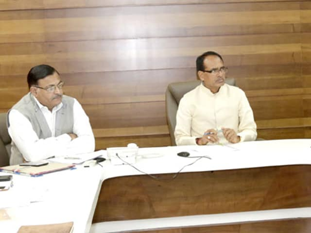 Chief minister Shivraj Singh Chouhan reviewed the arrangements being made for Narmada Seva Yatra, in Bhopal on Friday