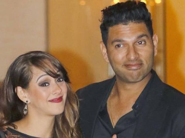 Cricketer Yuvraj Singh and his fiancée Hazel Keech