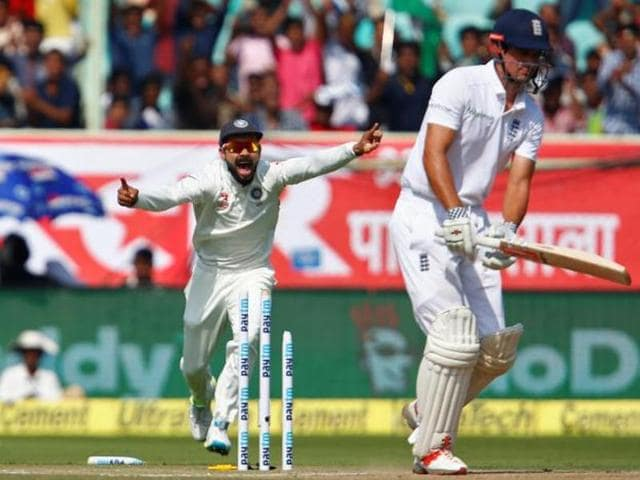 England reached 103 for five, trailing India by 352 runs, at stumps with all-rounder Ben Stokes and wicketkeeper Jonny Bairstow unbeaten at the crease.
