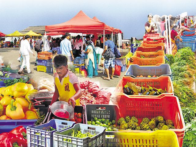 At the government-run farmers' markets in Nariman Point and Lalbaug, the produce is fresh and the money goes directly to the farmers.