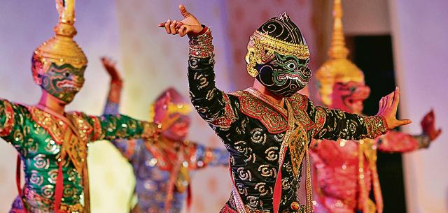 The Khon Thai dance represents one of the many versions of the Ramayana.