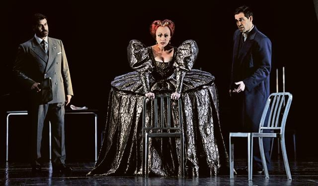 'Maria Stuarda' being staged at the Royal Opera House Covent Garden, London.