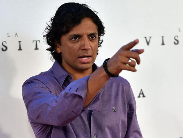 This file photo taken on September 2, 2015 shows Indian-American film director Night Shyamalan in Madrid.