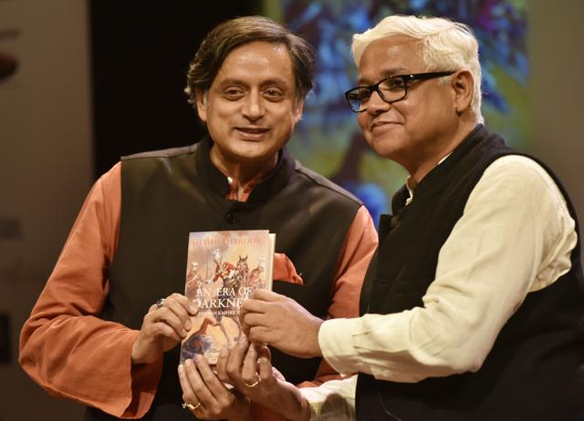 Shashi Tharoor and Amitav Ghosh during the opening ceremony of TATA literature live.