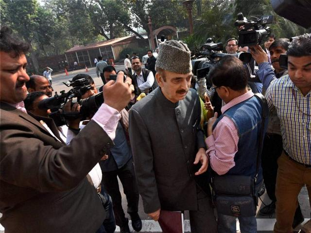 Senior Congress leader Ghulam Nabi Azad during the winter session of Parliament in New Delhi on Friday.