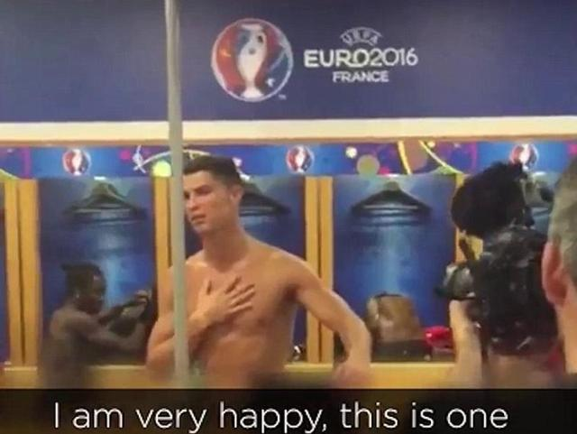 Cristiano Ronaldo, during an emotional speech, just after the final of Euro 2016 in France.
