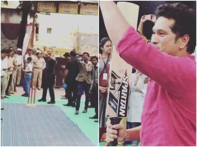 Chris Martin and Sachin Tendulkar visited a school in Mumbai on Friday as part of their collaboration with Global Citizen and met with a lot of happy, excited faces.