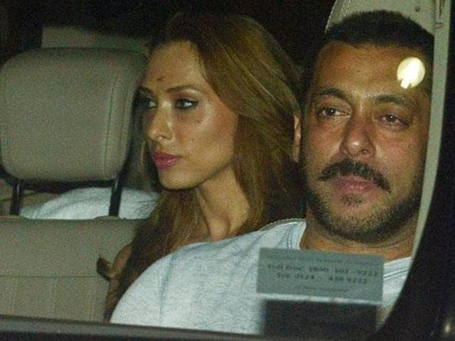 Salman Khan with Iulia Vantur, his alleged Romanian girlfriend.