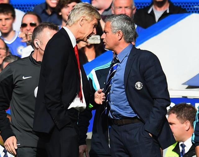 Sparks often fly when Arsene Wenger and Jose Mourinho have to share a touchline, typified by their notorious shoving match during a Chelsea-Arsenal fixture at Stamford Bridge two years ago.