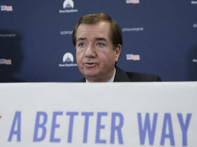 """Ed Royce speaking on """"the contribution of Hindu entrepreneurs to US economy"""" at the World Hindu Economic Forum here in Los Angeles."""