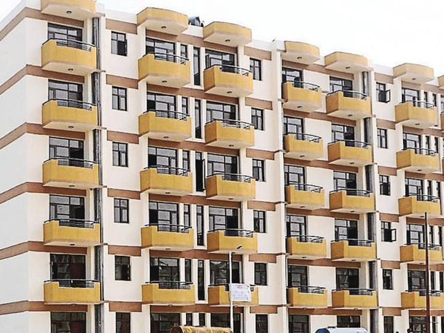 The Sector-63 housing society in Chandigarh.