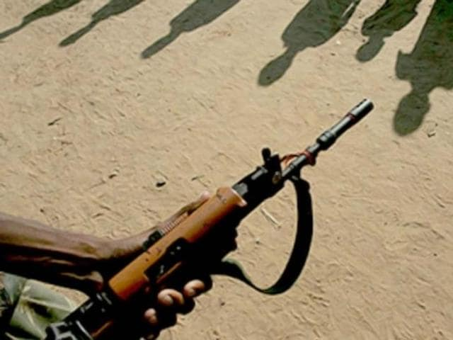 Police killed five Maoists in an encounter in the forests of Becha village.