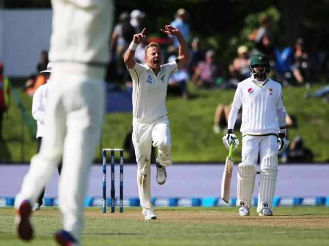 Neil Wagner claimed his 100th wicket in his 26th Test, becoming the second-fastest New Zealander to achieve the feat after Richard Hadlee reached the mark in 25 matches.