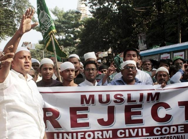 A Muslim organisation protests against Uniform civil code.
