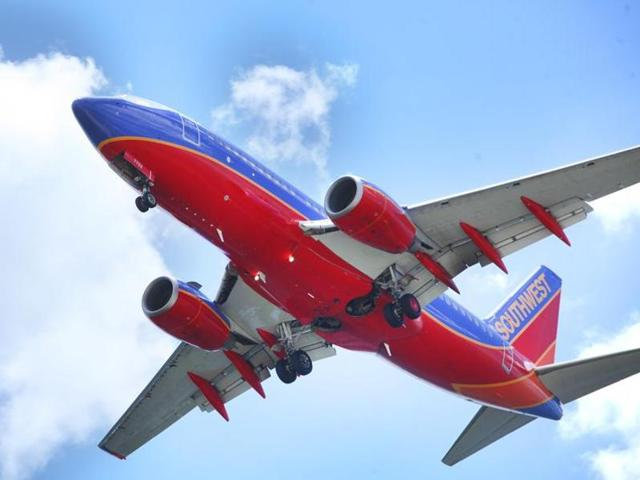 Southwest Airlines planes are seen at LAX airport in Los Angeles. The airline was accused by the rights group of  racially profiling Muslim, Arab and South Asian passengers.