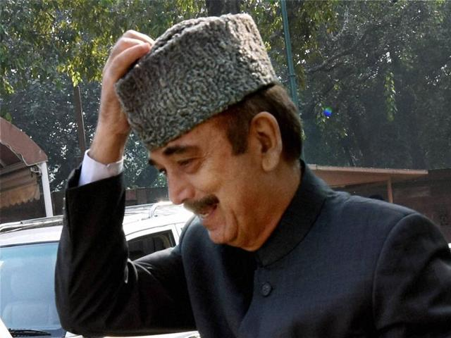 Senior Congress leader Ghulam Nabi Azad during the winter session of Parliament in New Delhi.