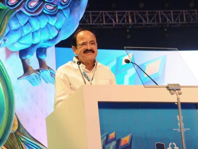 Union minister M Venkaiah Naidu during the inauguration of 47th International Film Festival (IFFI) in Panaji on Nov. 20.