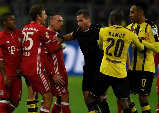 Pierre-Emerick Aubameyang gave Borussia Dortmund the lead against BayernMunich in the 11th minute.