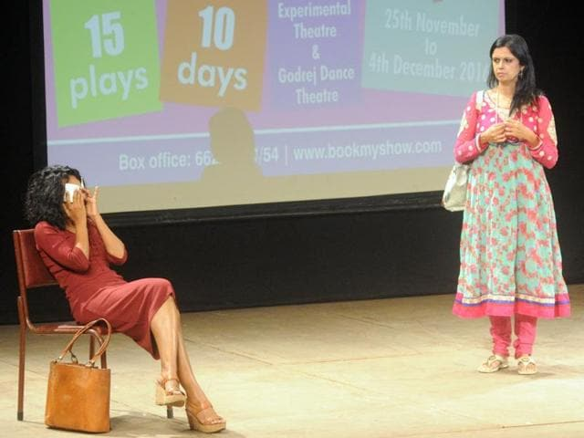 A scene from Danish Husain's (right) Qissebaazi that will premiere on November 29 at NCPA's annual theatre festival Centrestage.
