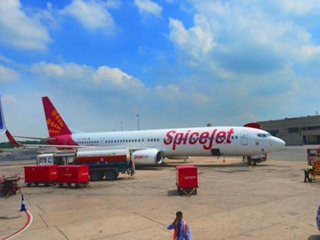 A SpiceJet aircraft  bound for Chennai had to abort take off on Sunday due to monkeys on the runway.