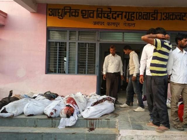 Bodies of victims of the Indore-Patna Express derailment were soon lying not just inside but outside the mortuary nearest to the accident spot in Kanpur Dehat district.