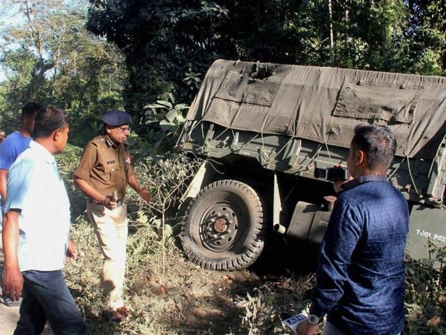 Three Indian army soldiers were killed and four other critically injured during an attack by militants of banned ULFA(I) in Tinsukia, Assam on Saturday.