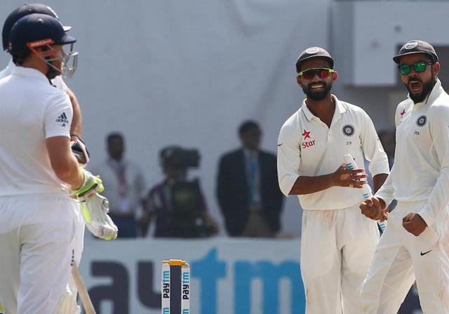 Virat Kohli's Indian team thrashed England by 246 runs in Vizag to take a 1-0 lead in the series.