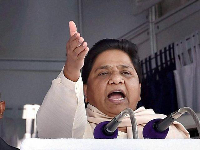BSP Chief Mayawati address the media at Parliament during the winter session, in New Delhi on Monday.