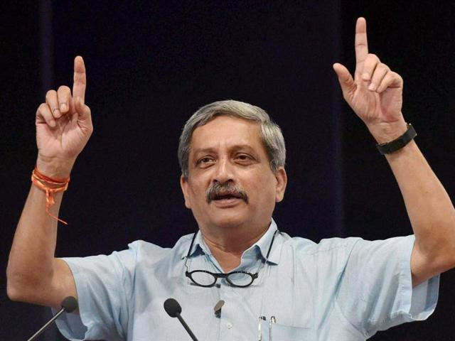 Speaking at the commissioning of INSChennai, Defence  minister Manohar Parrikar stood by the Naval PR's statement that Pak's claim of 'blocking' Indian submarine was a blatant lie.