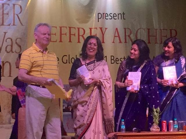 Jeffrey Archer was in Gurgaon as part of his four-day tour of India to promote the final instalment of his seven-part series, The Clifton Chronicles.