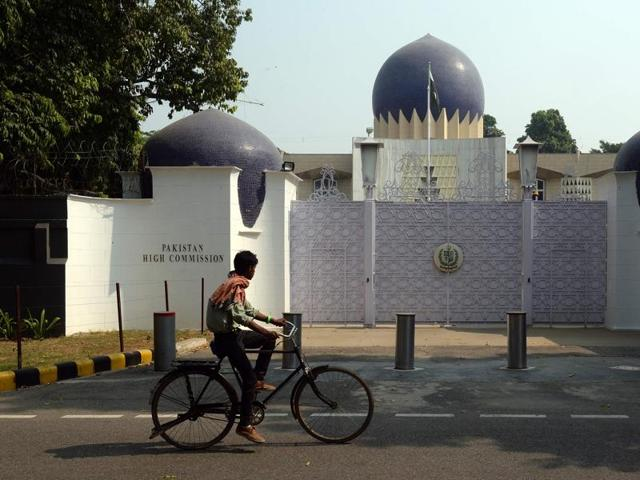 Pakistan high commission in New Delhi. Pakistan issued visas to 81 Hindu pilgrims to visit shrines in that country.
