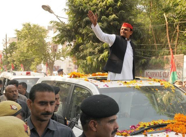 Akhilesh Yadav started his Samajwadi Vikas Rath Yatra on Nov 3. It is expected to reach Noida inthe first week of December