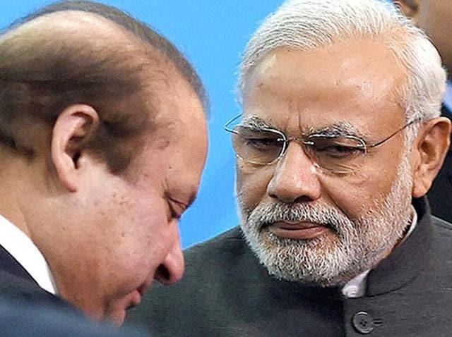 File photo of PM Narendra Modi with Pakistani Prime Minister Nawaz Sharif at the Shanghai Cooperation Organization summit in Ufa, Russia.
