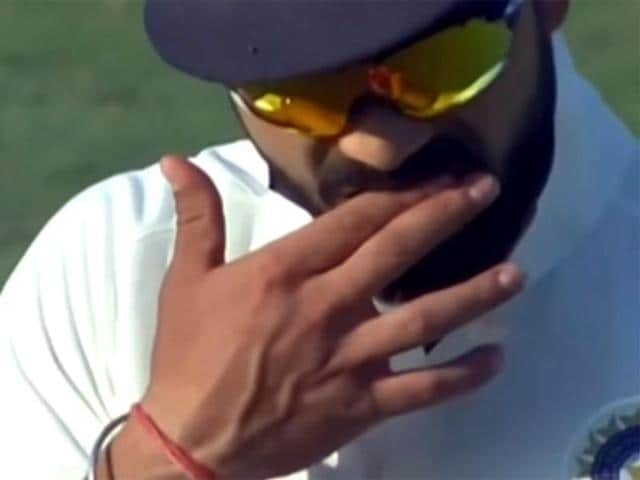 In the video, India Test captain Virat Kohli can be seen rubbing his fingers in his mouth and he then appears to shine one side of the ball, something that helps in movement in the air.(Youtube)