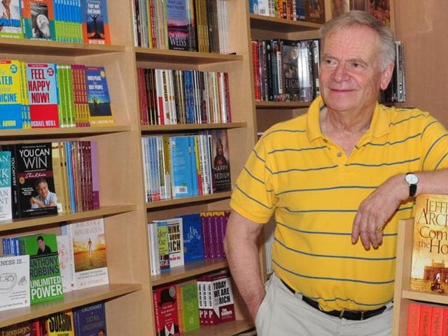 Author Jeffrey Archer visited Gurgaon recently and addressed a packed amphitheatre of book lovers.
