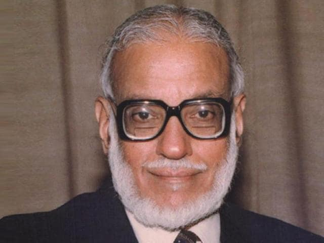 Prof MGK Menon, an acclaimed physicist, who had played a prominent role in the development of science and technology in the country over the last five decades.(Courtesy: isro.gov.in)