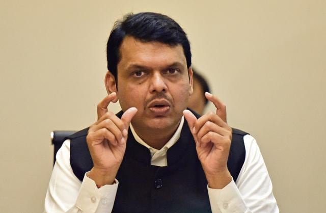 Congress demanded the state election commission take action against chief minister Devendra Fadnavis for showing disrespect to democracy.(HT File Photo)