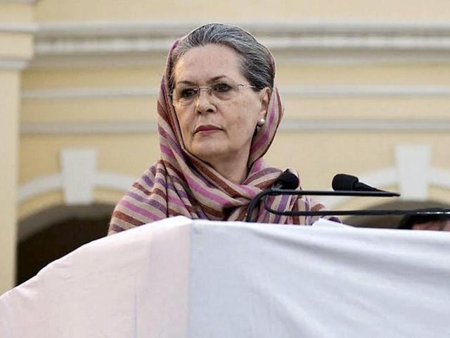 "To another question that her party did not have a tough and competitive leader like Modi, Congress president Sonia Gandhi said, ""I do not agree with that."""