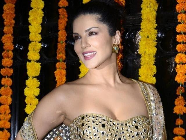 Actor Sunny Leon arrives to attend Ekta Kapoor's Diwali party in Mumbai.
