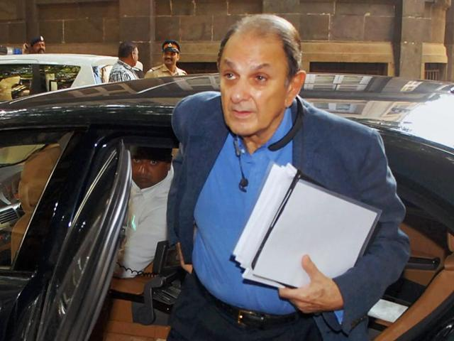 Nusli Wadia, arrives for a meeting at Bombay House in Mumbai on Friday.