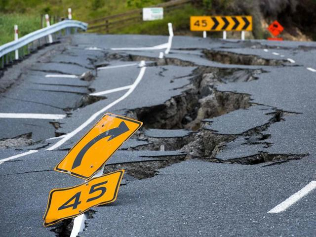 The earthquake destroyed Elms homestead that killed resident Louis Edgar in Monday's 7.8-magnitude quake is seen near Kaikoura, New Zealand on November 16.