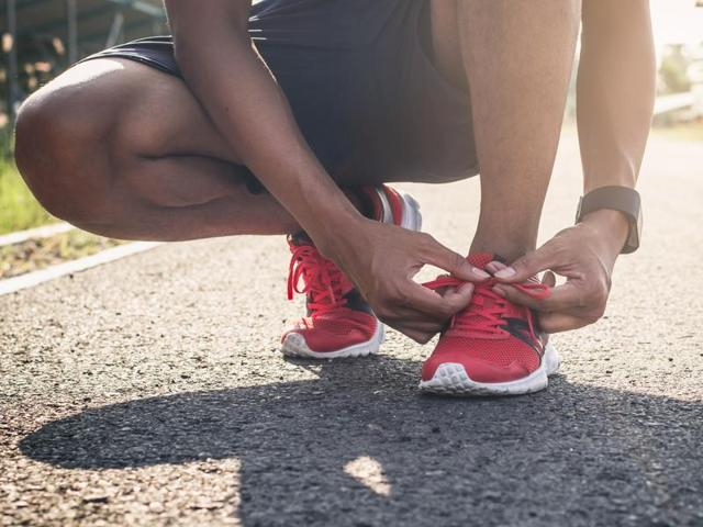 "Modern-day runners in cushioned footwear tend to land on their heel - known as a ""rearfoot strike"" - while those who run in the natural barefoot state are more likely to land on the ball of their foot - a ""forefoot strike."""