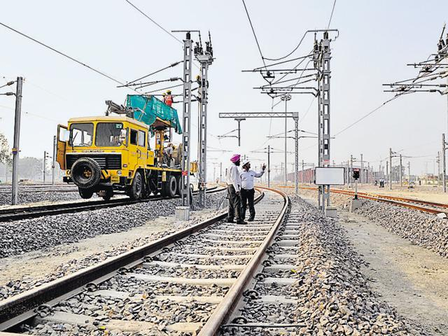 The track near metro depot in Transport Nagar where the trial run will take place.