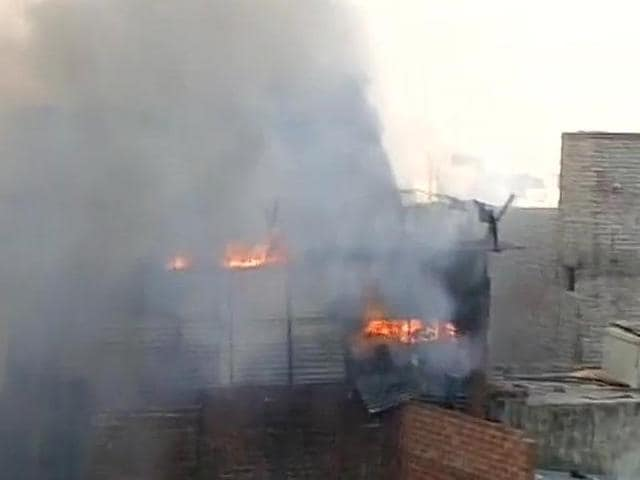 Fire broke out in Delhi's Sadar Bazar early on Wednesday morning.