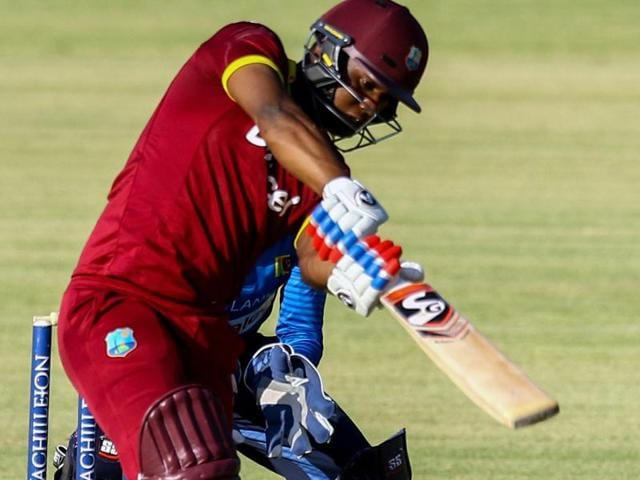 West Indies batsman Evin Lewis scored his maiden century (148 from 122 balls) during the chase but his effort went in vain as they lost to Sri Lanka by 1 run in the tri-series one-day match in Bulawayo.